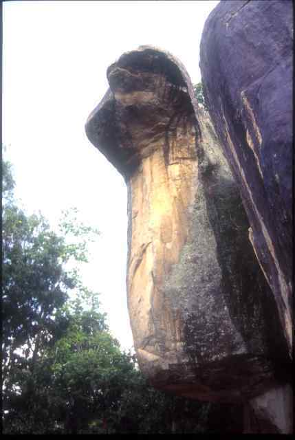 Sigiriya cobra head rock formation